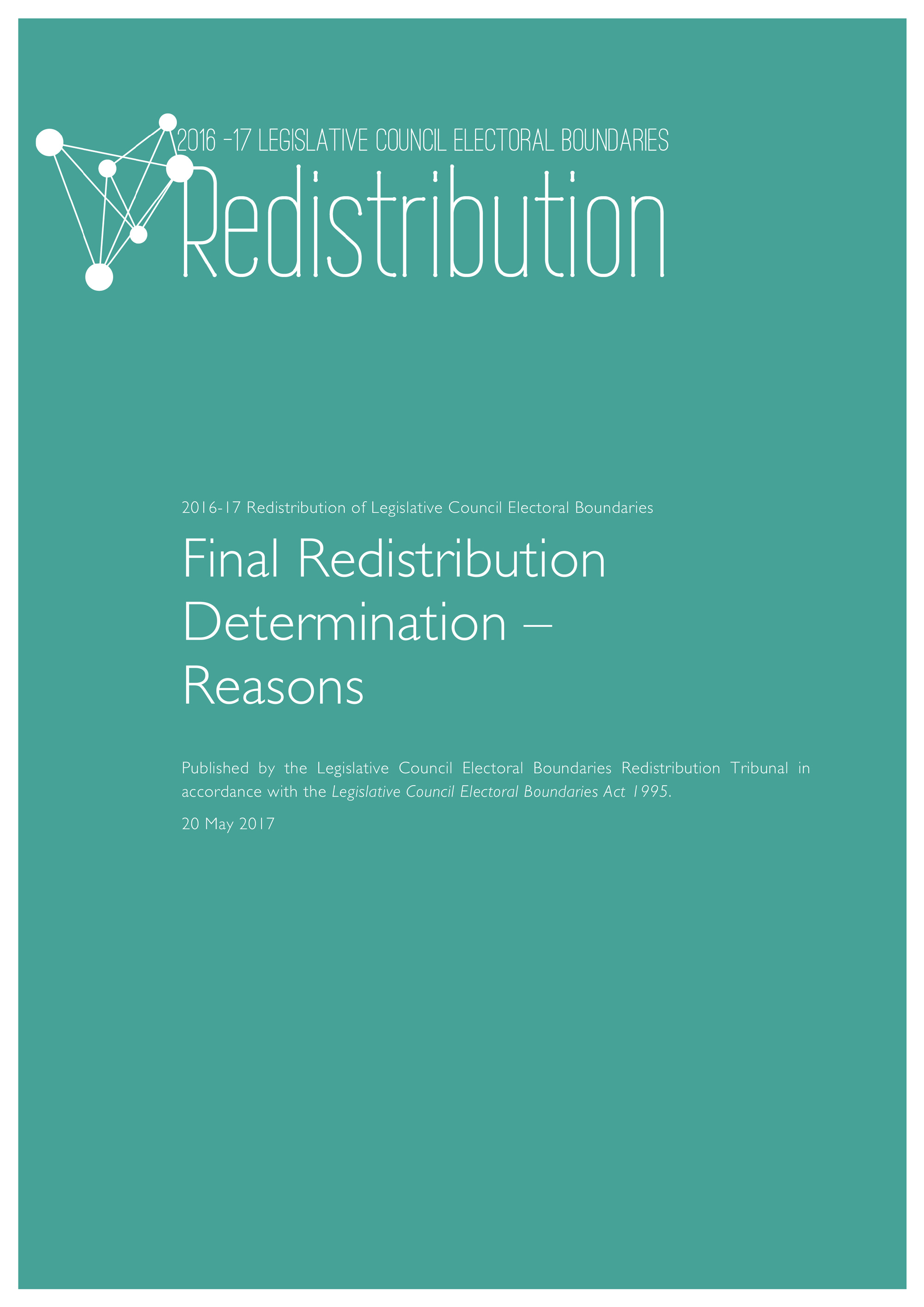 Image of Final Redistribution Determination - Reasons booklet cover