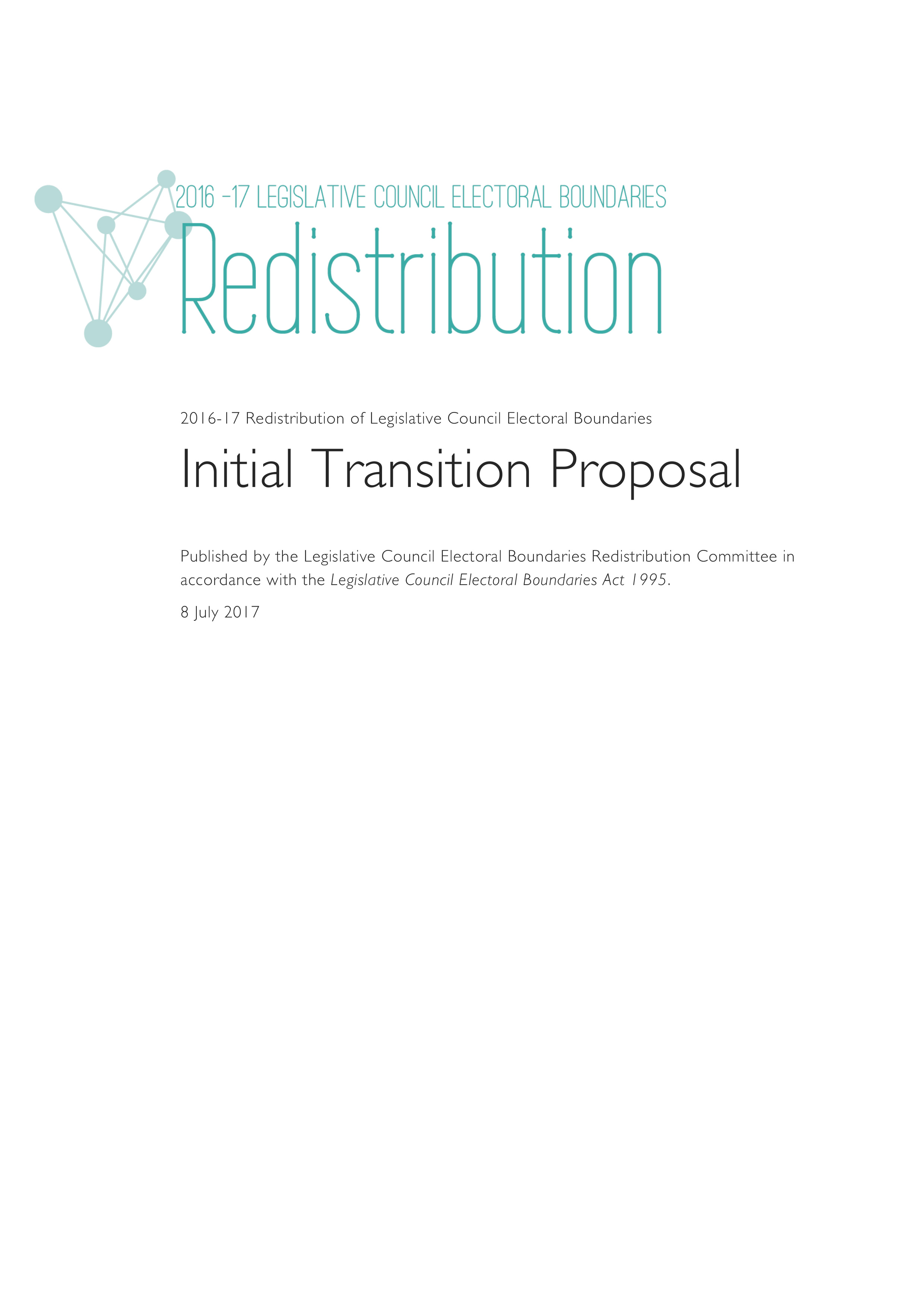 Image of Initial Transition Proposal booklet cover